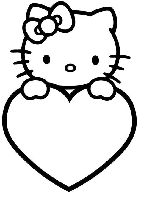 free hello kitty valentines day coloring pages hello kitty valentine coloring pages coloring home