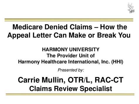 Sle Appeal Letter Denied Medicare Claim Medicare Denied Claims How The Appeal Letter Can Make Or You
