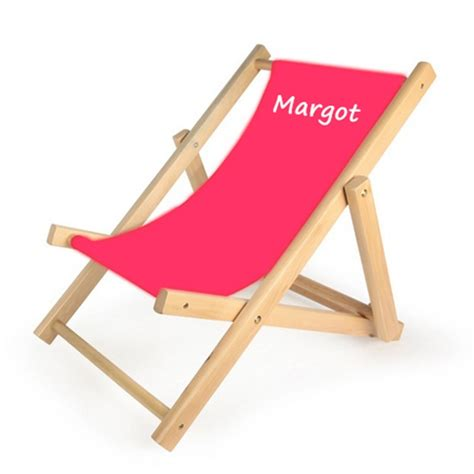 chaise longue enfant personnalis 233 e toiles