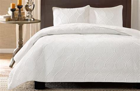 white king coverlet set white chic modern elegant textured coverlet shams bedding