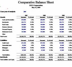 download comparative balance sheet