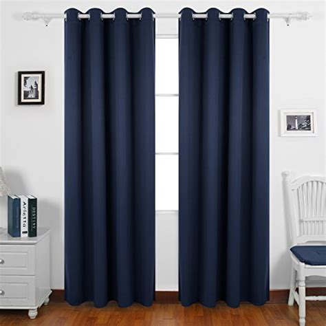 navy eyelet blackout curtains best price deconovo solid thermal insulated ready made