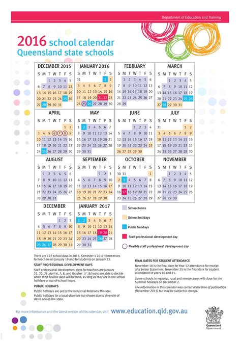 printable calendar 2016 qld queensland department of education on twitter quot the min
