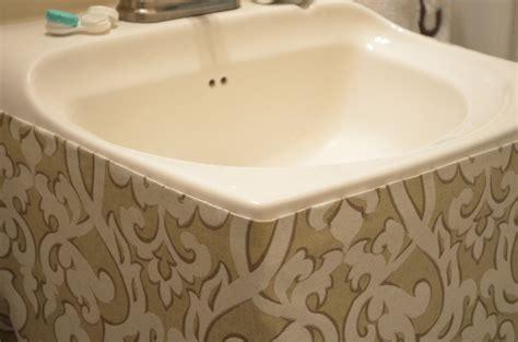 how to make a bathroom sink skirt 17 best ideas about bathroom sink skirt on pinterest