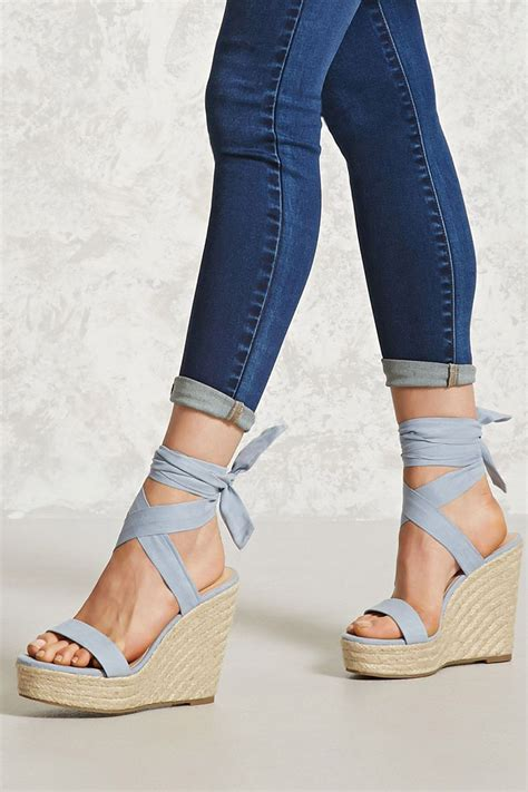 Heels Pita Suede a pair of faux suede espadrilles with a braided wedge heel