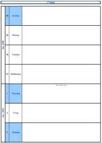 microsoft weekly calendar template best photos of blank weekly schedule excel free