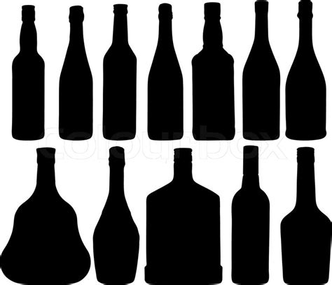 Vase Suppliers Abstract Vector Illustration Of The Different Bottles