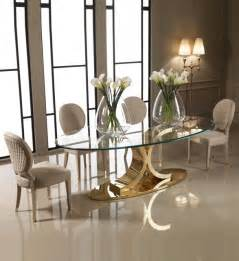 glass and gold dining table designer 24 carat gold plated oval glass dining set oval