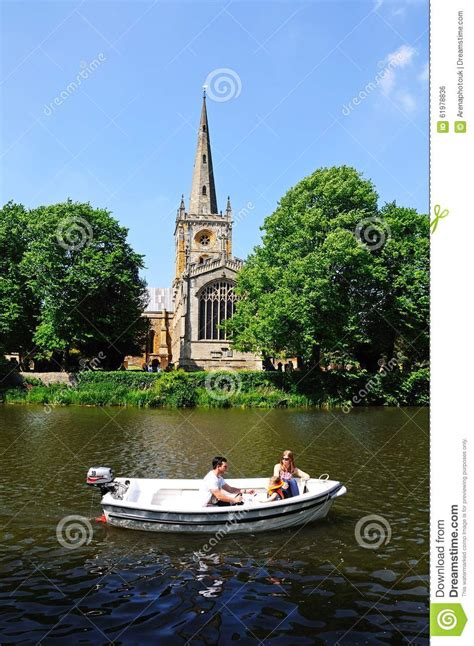 boat ride from new york to england boat ride and church stratford upon avon editorial photo