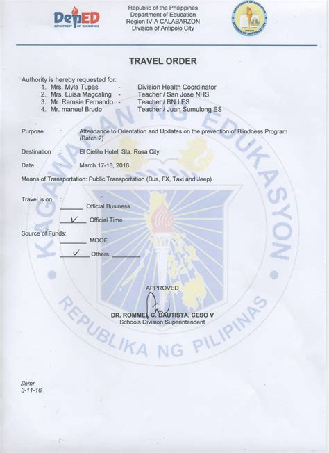 Deped Official Letterhead issuances deped antipolo