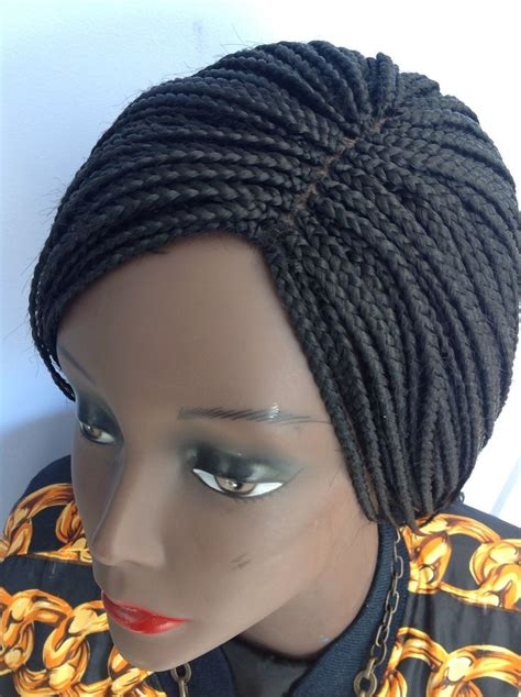 wigs to wear with braids 20 quot handmade black braided wig made with premium