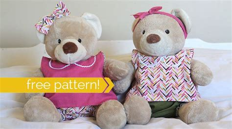 pattern teddy bear clothes free pattern for easy to sew teddy bear clothes build a