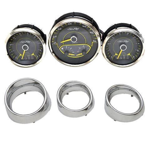 evinrude boat gauges sea ray faria chrome black omc evinrude johnson outboard