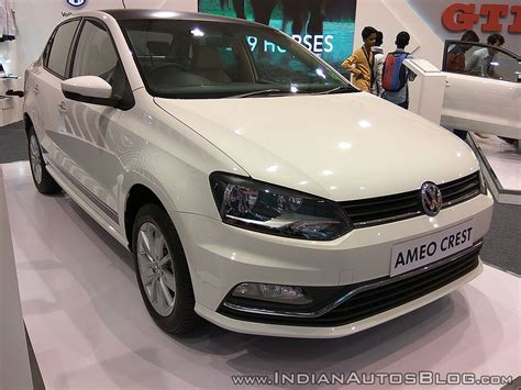 volkswagen ameo white vw ameo crest showcased at aps 2017