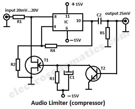 fet transistor bfw11 audio limiter circuit