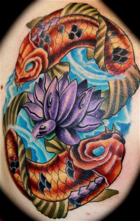 tattoo koi lotus flower purple lotus and koi tattoo steve martin the best