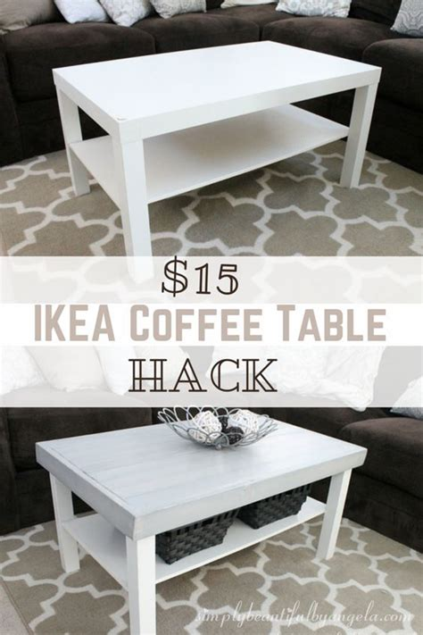 Coffee Table Hack Simply Beautiful By Angela Ikea Lack Coffee Table Hack Great Idea Thursdays Pinterest