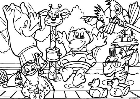 coloring book animals free animals zoo coloring pages free