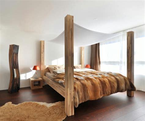 schlafzimmer aus holz 50 coole ideen f 252 r himmelbetten aus holz im schlafzimmer