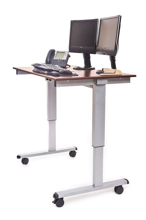 luxor 48 electric standing desk luxor stande 48 ag dw 48 inch electric standing desk