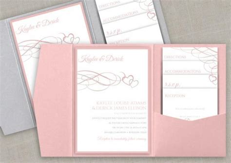 Hochzeitseinladung Pocket Folder by Diy Pocket Wedding Invitation Set Instant