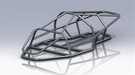 auto gestell car frame stl step iges solidworks 3d cad model