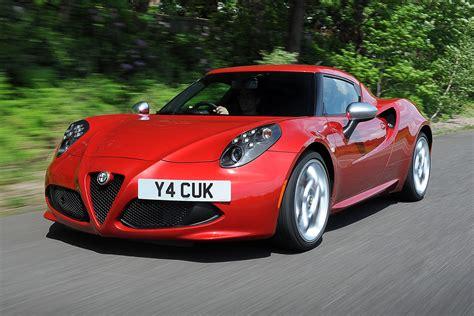 alfa new car new alfa 4c sports car and giulietta hatchback in the