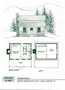 Small Cabins Floor Plans by Log Home Package Kits Log Cabin Kits Yukon Trail I Model