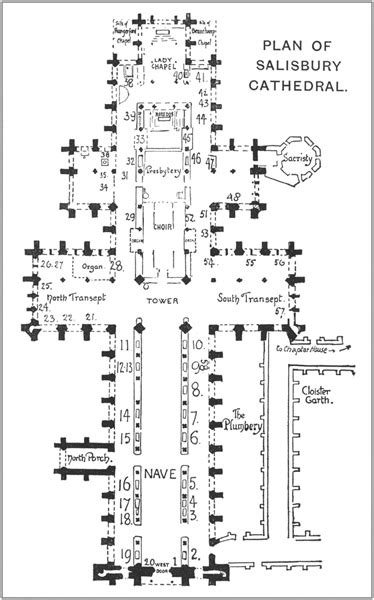 salisbury cathedral floor plan bell s cathedrals the cathedral church of salisbury