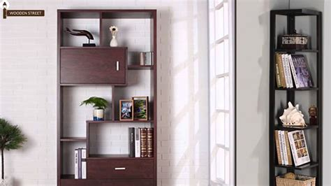 wooden buy bookshelves india