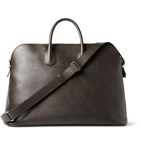 24 Hour Handbag by Lyst Valextra Textured Leather 24 Hour Bag In Brown For