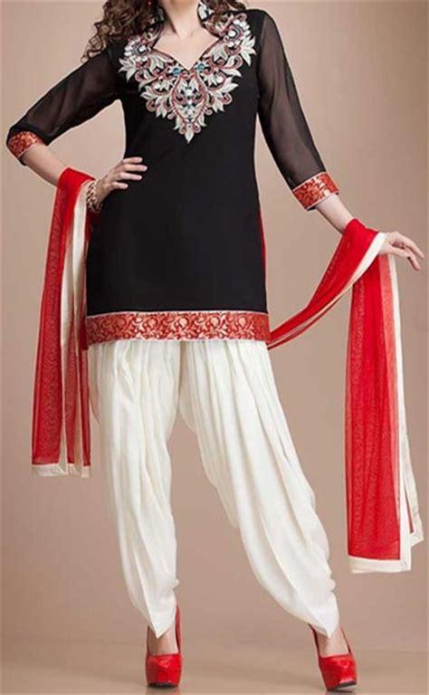 patiala kurta pattern stylish black kurti patiala white salwar neck design