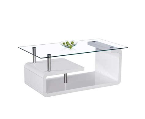 white lacquer glass top coffee table bm 415 contemporary
