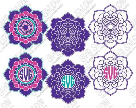 flower pattern in circle indian mandala flower pattern circle monogram frame custom