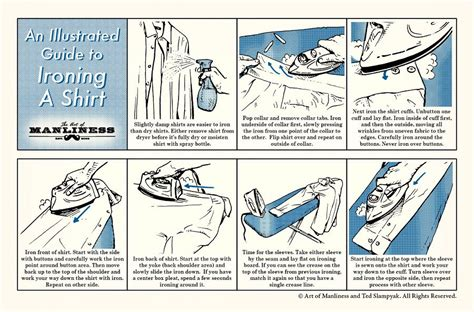 how to iron a men s dress shirt an illustrated guide
