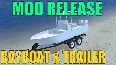 farming simulator boat videos farming simulator 17 mod release bay boat boat trailer