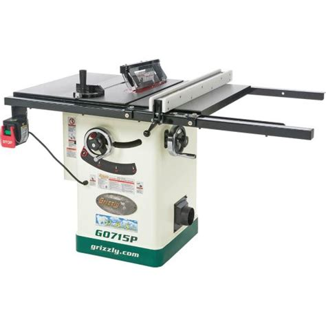 grizzly table saw grizzly g0715p polar series hybrid