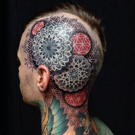 mandala head tattoo mandala by ferguson tattoos