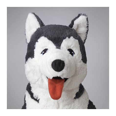 ikea dog livlig soft toy husky ikea