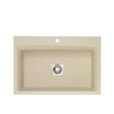 Beige Kitchen Sinks Astracast Dual Mount Granite 33x22x10 1 Single Bowl Kitchen Sink In Beige As