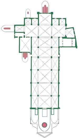 floor plan of the basilica di santa maria maggiore rome firenze s maria novella