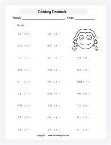 divide decimals up to 2 decimal places by whole numbers