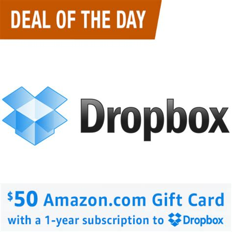Free 50 Amazon Gift Card - dropbox pro subscription 99 free 50 amazon gift card mybargainbuddy com
