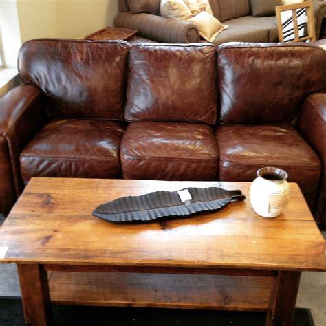 rustic leather sofa set 76 quot distressed mocha leather sofa rustic pine coffee