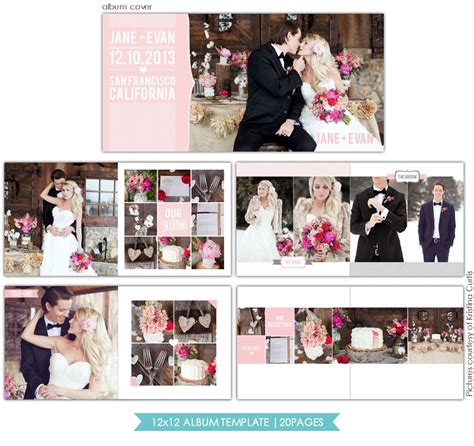 heartfelt love 12x12 wedding album template birdesign