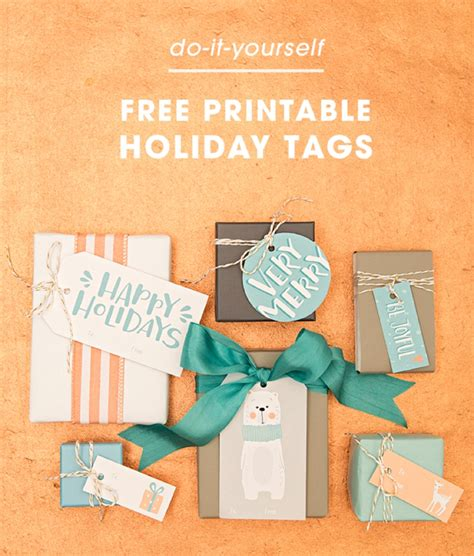 free download simplify your holiday with these printable download print these darling holiday gift tags for free