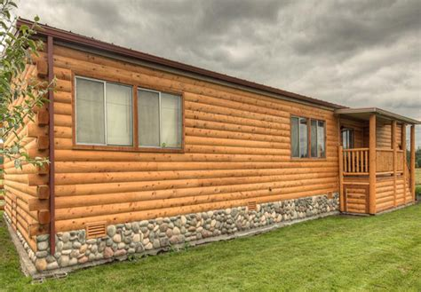 log cabin mobile home siding mobile homes ideas