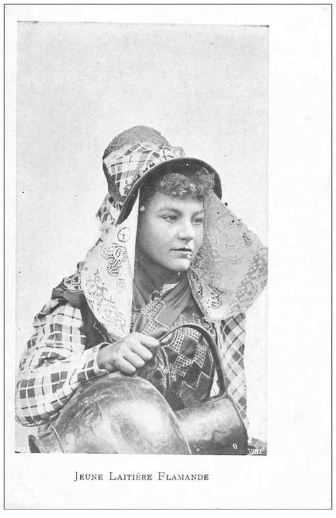 METIERS. Une Jeune Laitière Flamande vers 1900