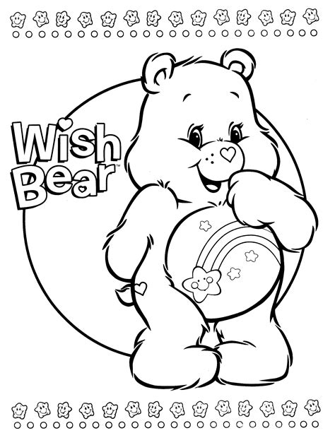 birthday bear coloring page care bears coloring page tagged with care bear coloring