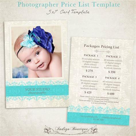 Items Similar To Photographer Price List Photography Package Pricing Price Guide Photography Photography Price List Template